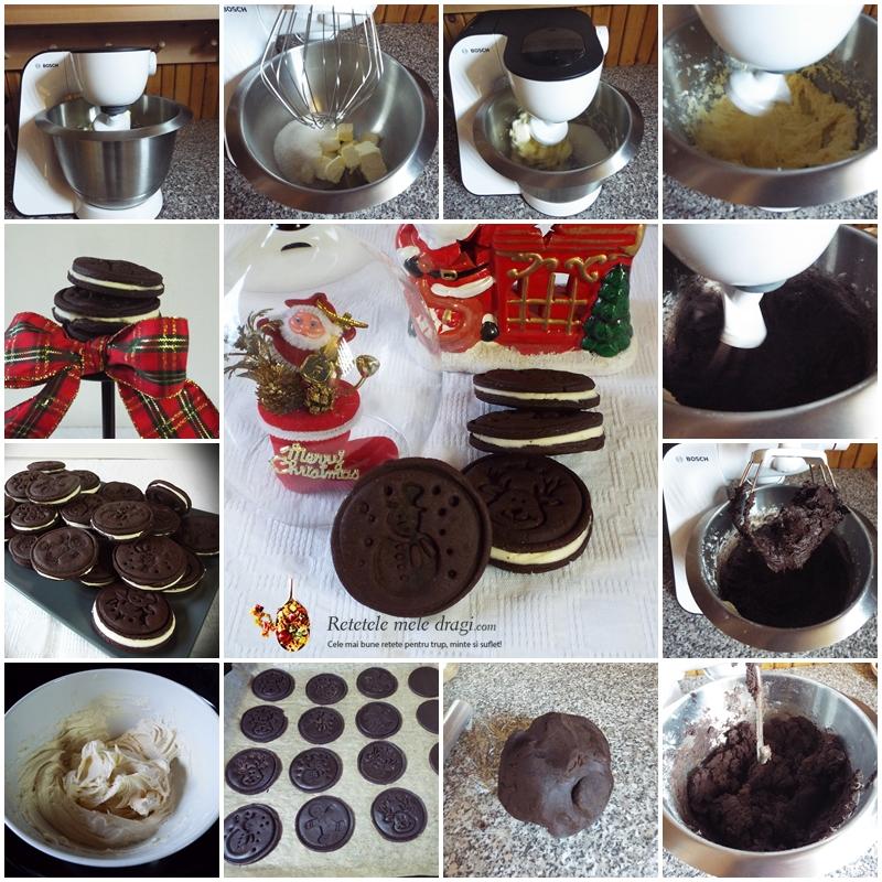 Biscuiti Oreo de casa preparare