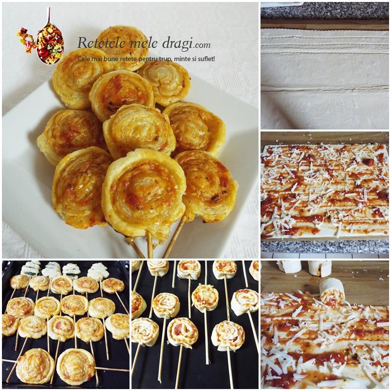 3 aperitive simple din foietaj -rulouri pizza 1