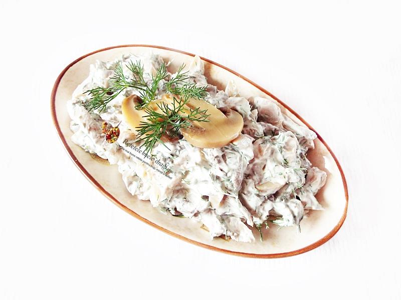 salata de ciuperci cu smantana si marar 1