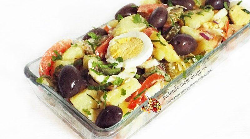 salata orientala cu castraveti murati
