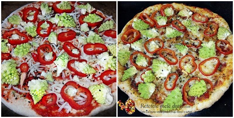 Pizza cu maia naturala si legume 1