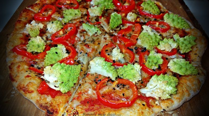 Pizza cu maia naturala si legume 2