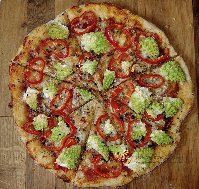 Pizza cu maia naturala si legume