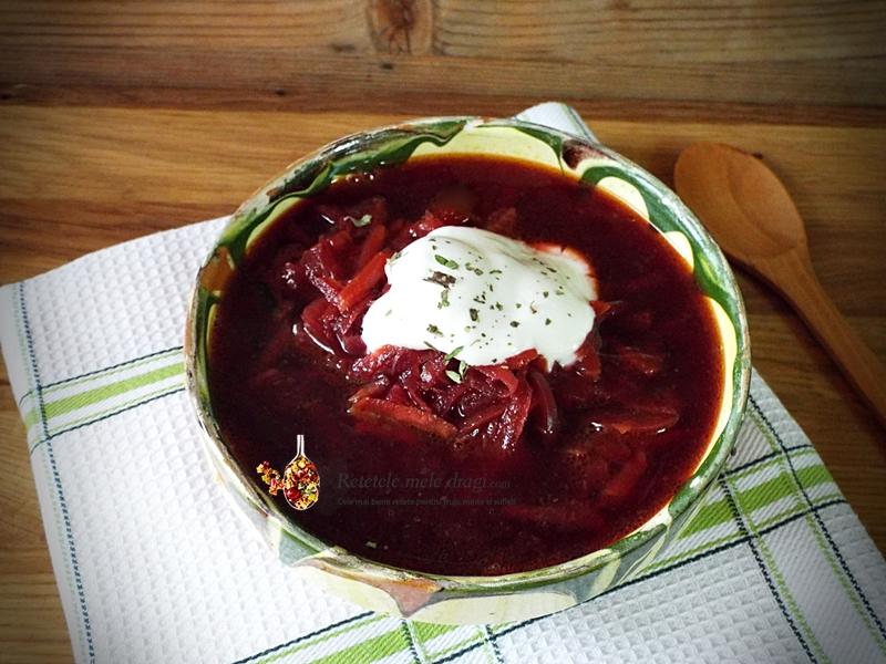 bors rusesc cu sfecla rosie 1