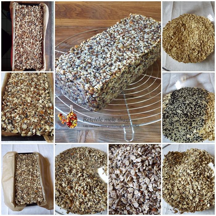 paine din seminte si orz (multigrain) preparare