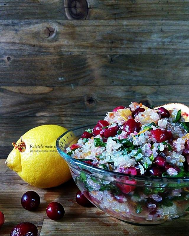 salata de quinoa cu merisoare si portocale