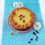 Budinca de paste fara gluten cu branza dulce si stafide