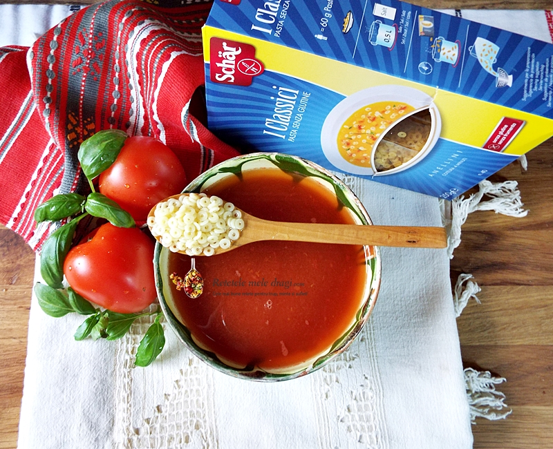 supa de rosii cu paste fara gluten
