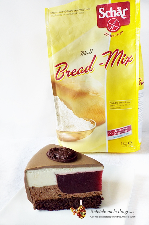 tort fara gluten cu ciocolata si zmeura 4