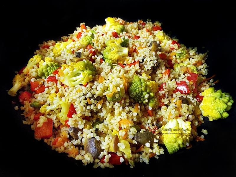 Bulgur cu legume la wok