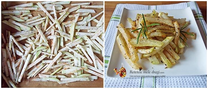 cartofi prajiti falsi facuti din gulii la cuptor