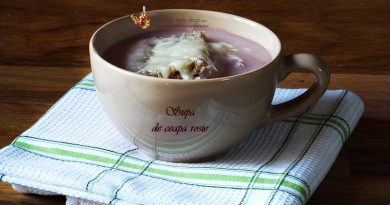 supa de ceapa rosie