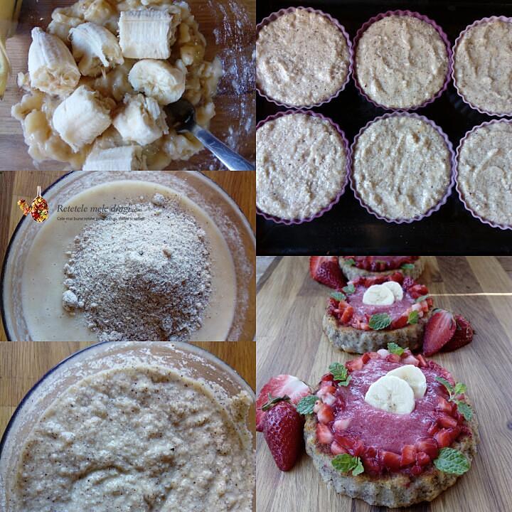 tarte fara gluten cu capsuni si banane preparare