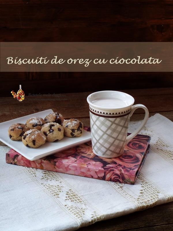 biscuiti de orez cu ciocolata