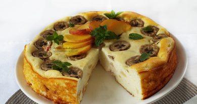 cheesecake cu banane si piersici 2