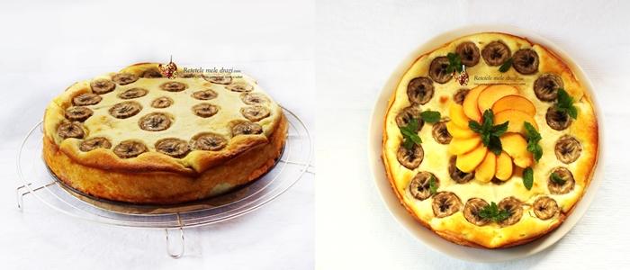 cheesecake cu banane si piersici 4
