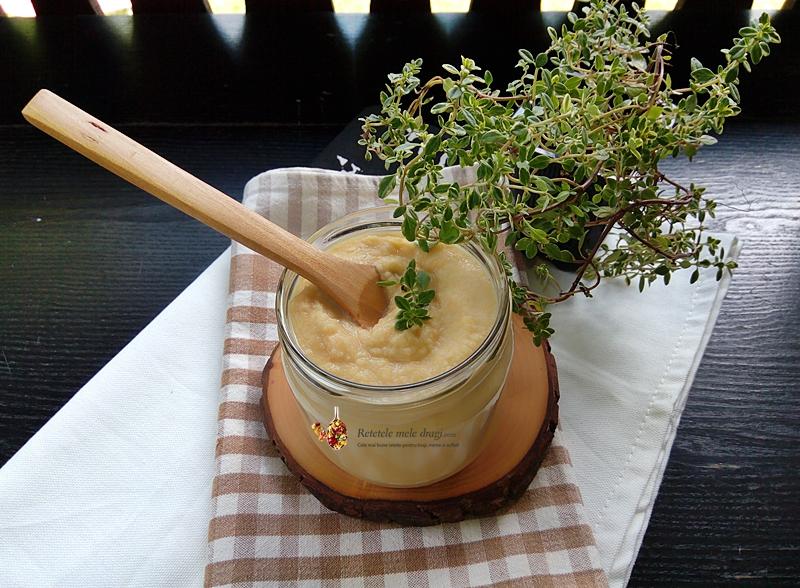 Pasta de fasole uscata cu legume (pate de fasole)