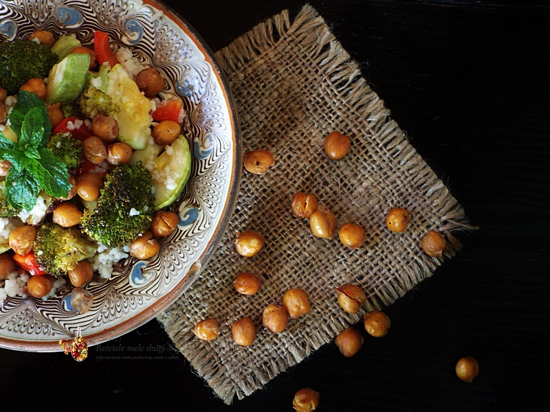 salata de cous cous cu legume la cuptor si naut crocant 1