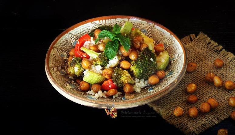 salata de cous cous cu legume la cuptor si naut crocant