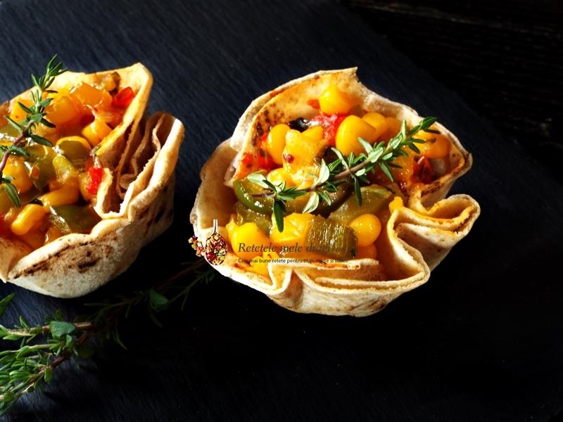 tacos vegetarieni in cosulet de lipie 0