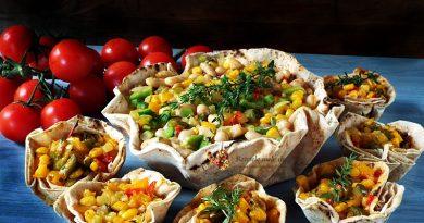 tacos vegetarieni in cosulet de lipie 1