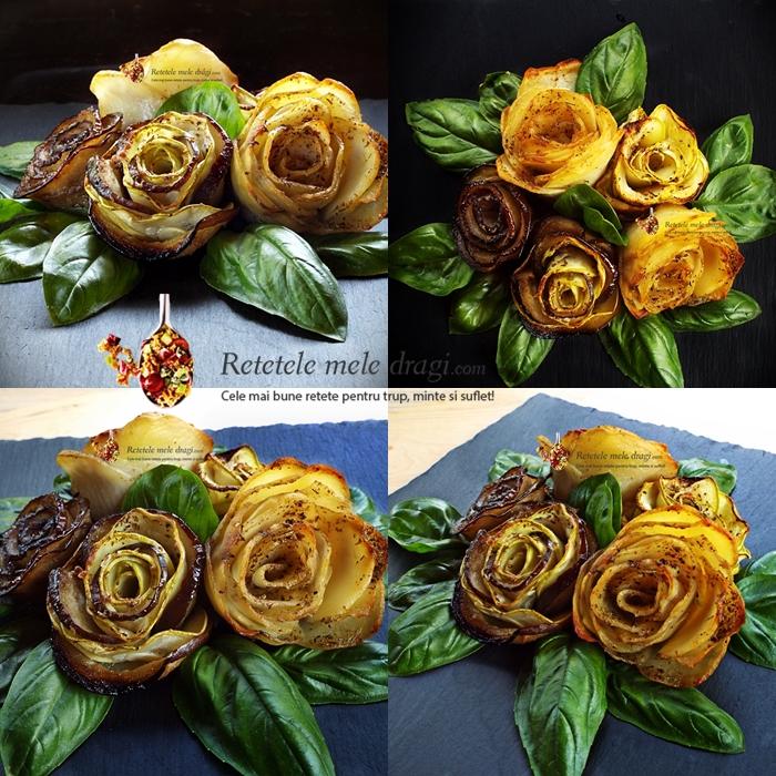 aperitiv festiv trandafiri din legume la cuptor 1