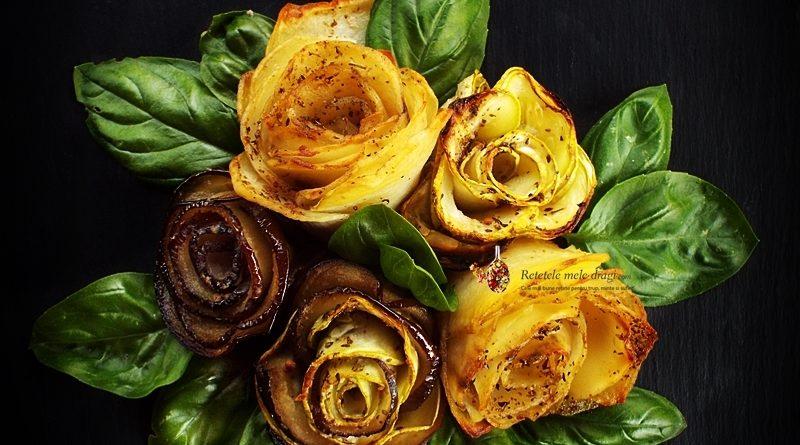 aperitiv festiv trandafiri din legume la cuptor 2