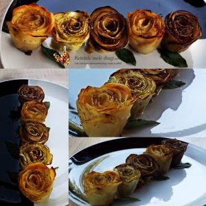 aperitiv festiv trandafiri din legume la cuptor