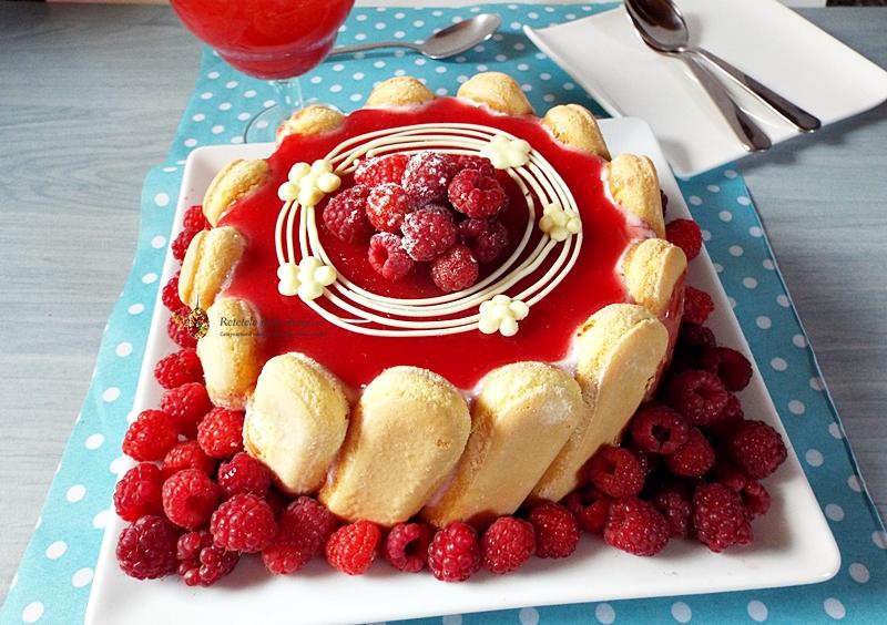 tort cu sarlota de zmeura 1