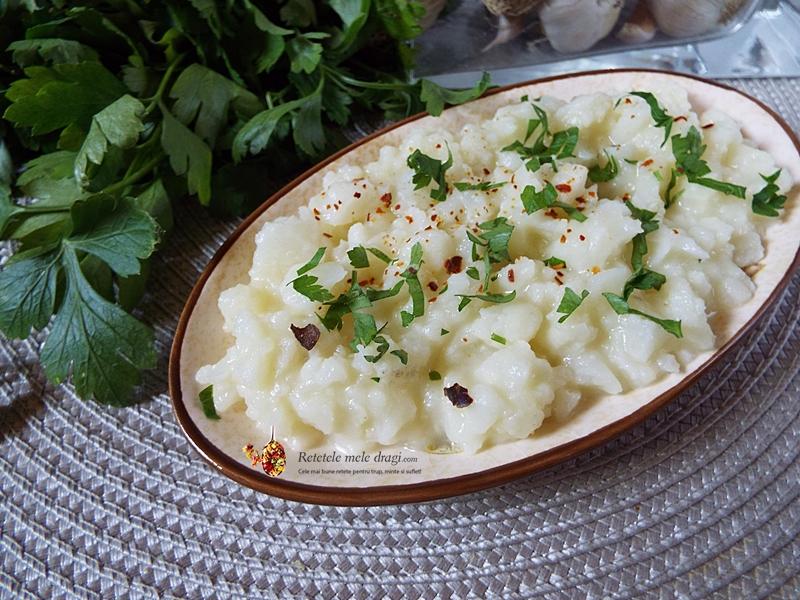 salata de conopida cu maioneza din cartof si hrean