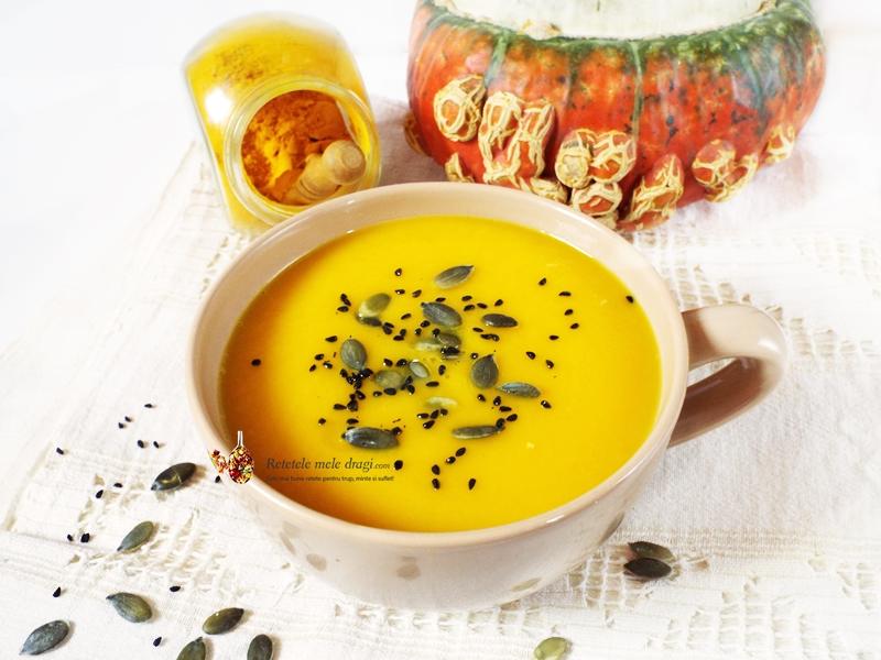 supa de dovleac cu ghimbir si turmeric 0