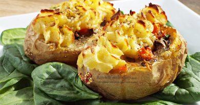 cartofi umpluti cu legume la cuptor
