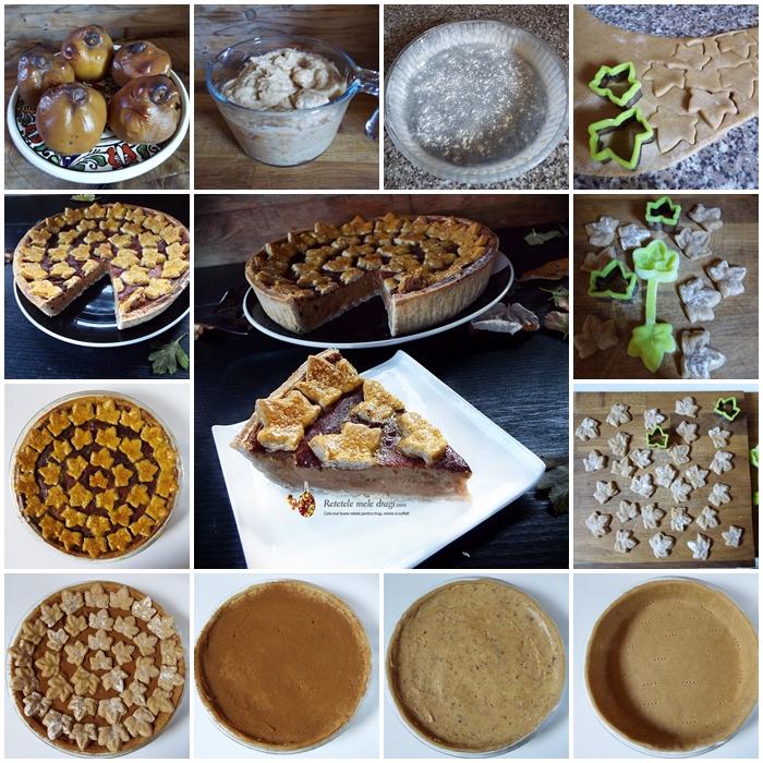 tarta cu gutui si aluat fraged preparare
