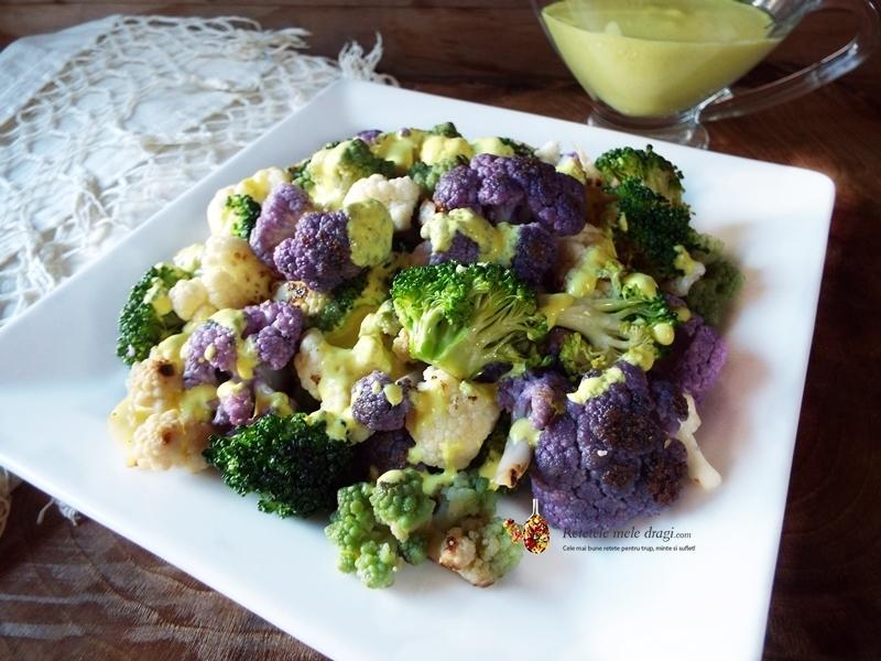 salata de conopida cu broccoli si sos de iaurt cu turmeric 5