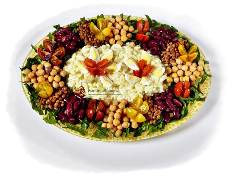 Salata de conopida cu maioneza din aquafaba si leguminoase 2