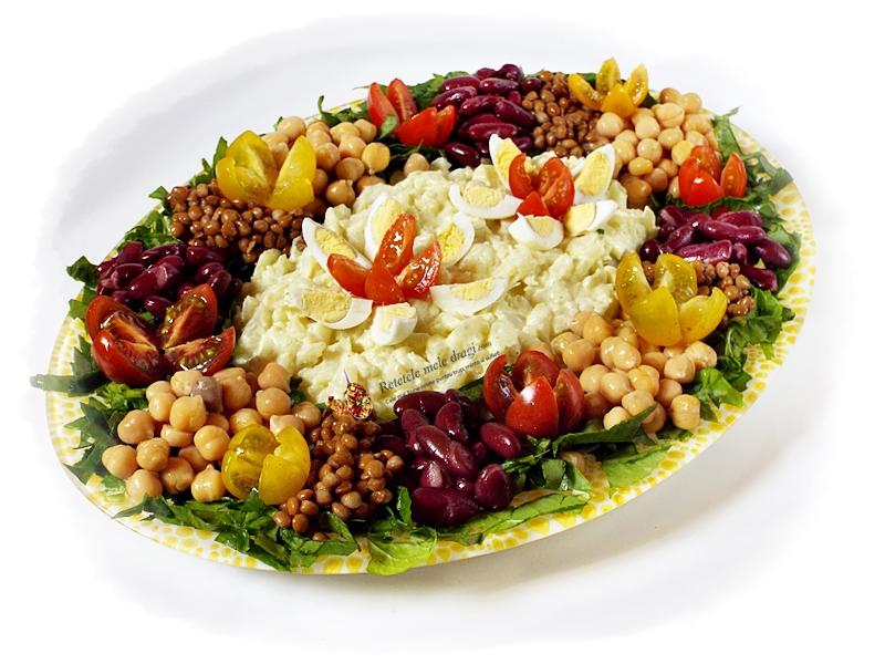 salata de conopida cu maioneza din aquafaba si leguminoase
