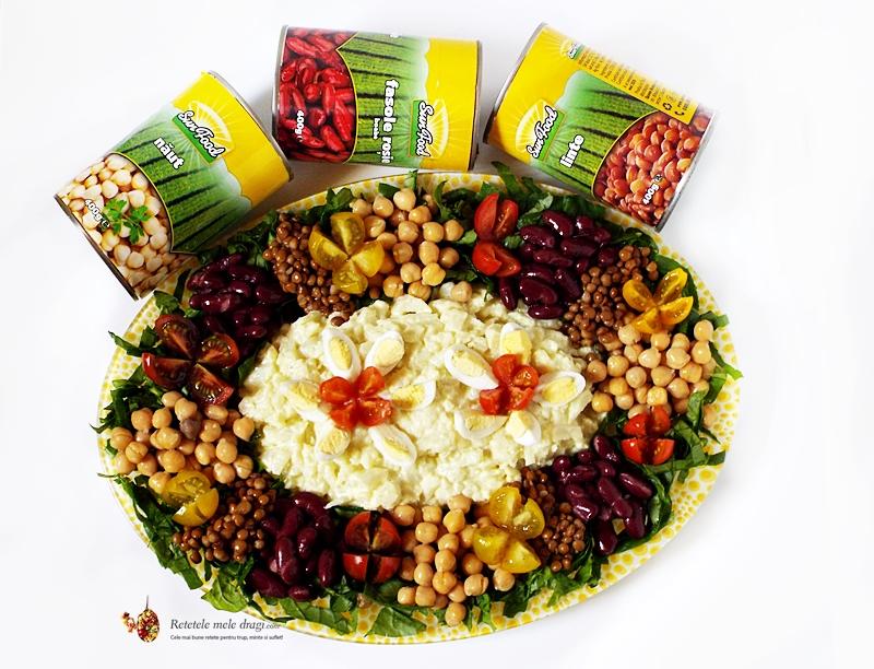 Salata de conopida cu maioneza din aquafaba si leguminoase 1