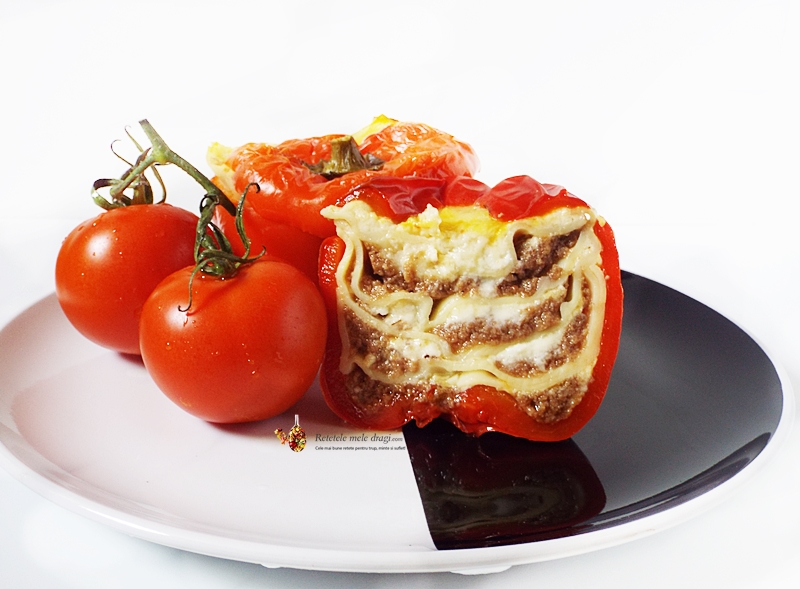 Lasagna cu ciuperci in ardei gras 1