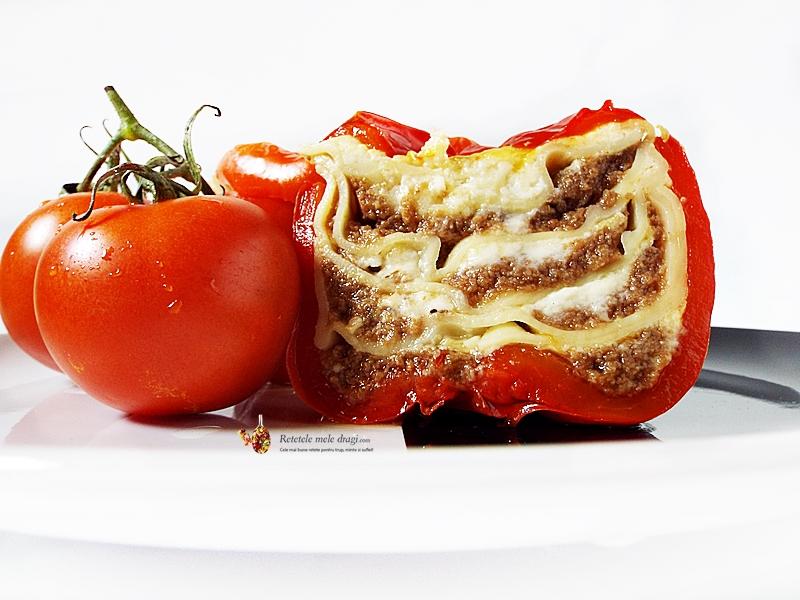 Lasagna cu ciuperci in ardei gras 2