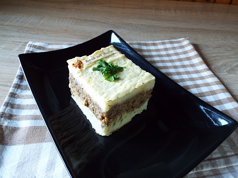 Musaca de cartofi cu ciuperci (vegetariana) 1