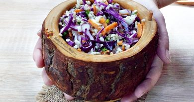 Salata Coleslaw cu bulgur in stil asiatic