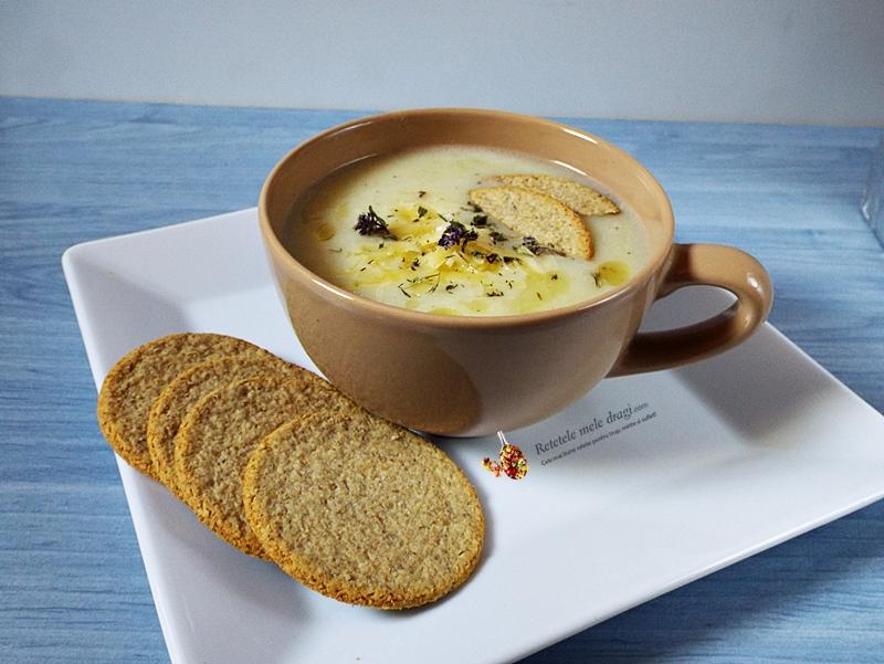 supa crema de usturoi cu naut