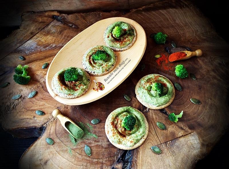 pasta de avocado cu broccoli