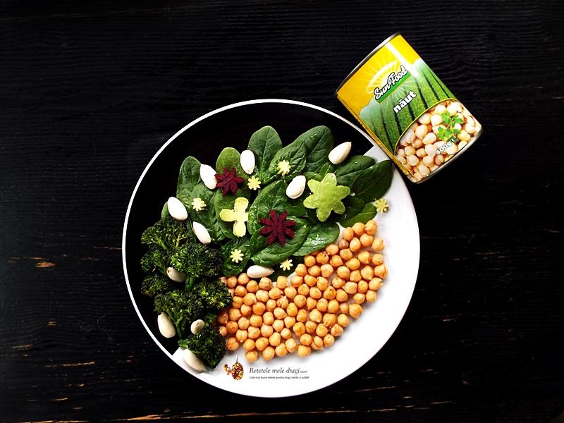 salata de naut cu spanac si migdale 1