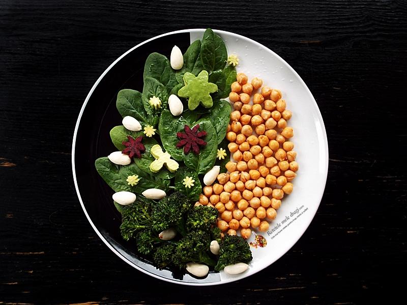 salata de naut cu spanac si migdale