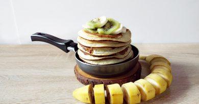 Pancakes cu banane si iaurt(fara zahar)