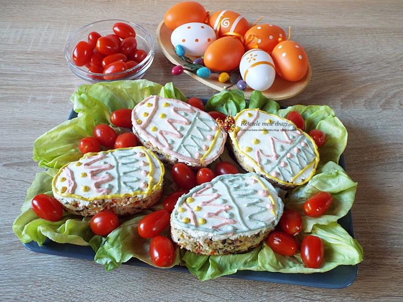 chec aperitiv cu legume si masline Oua de Paste 1