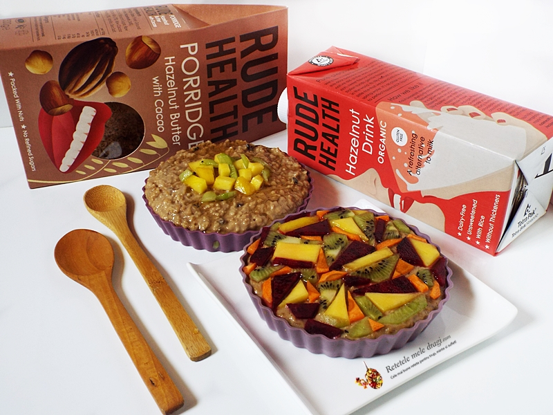 Porridge (terci de ovaz) cu cacao si fructe 2