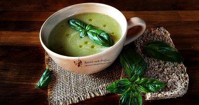 supa crema de dovlecei cu busuioc