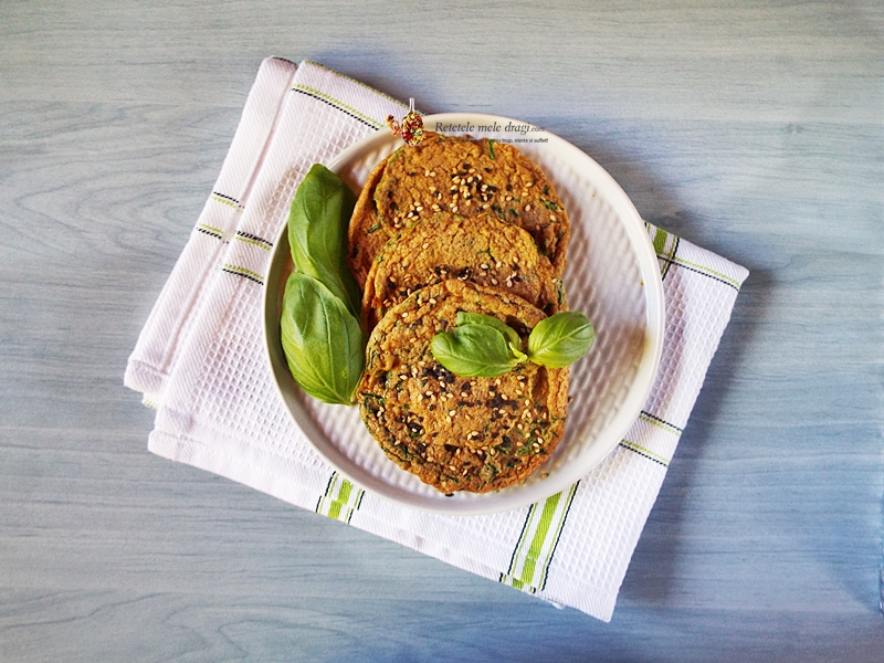 Omleta cu ceapa verde si seminte 1